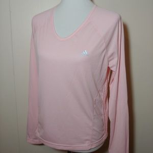 Adidas pink long sleeve top Size Large
